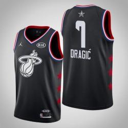 2019 NBA All-Star-Männer Miami Heat Goran Dragic # 7 Black Swingman Trikot