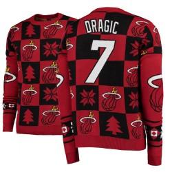 Männer Goran Dragic Miami Heat # 7 Red 2018 Weihnachten Sweater