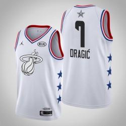 2019 NBA All-Star-Männer Miami Heat Goran Dragic # 7 Weiß Swingman Trikot