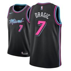 Jugend NBA 2018-19 Goran Dragic Miami Heat # 7 Stadt Edition Black Trikot