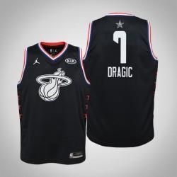 2019 NBA All-Star Jugend Miami Heat Goran Dragic # 7 Black Swingman Trikot