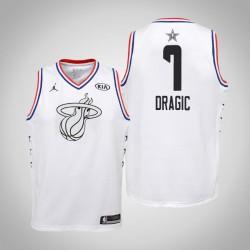 2019 NBA All-Star Jugend Miami Heat Goran Dragic # 7 Weiß Swingman Trikot