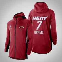 Männer Goran Dragic Heat # 7 Red 2020 Saison Therma Flex Showtime Hoodie