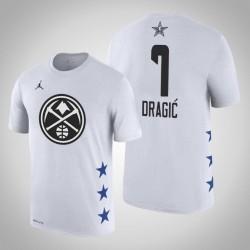 2019 NBA All-Star Game Männer Miami Heat Goran Dragic # 7 Weiß T-Shirt