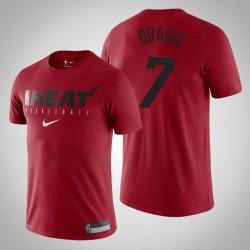 Miami Heat Goran Dragic # 7 Red Wesentliche Praxis Performance-T-Shirt
