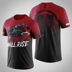 Hitze Goran Dragic # 7 Red Marvel Wakanda für immer T-Shirt