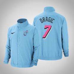 Männer Goran Dragic Miami Heat # 7 Blue City DNA Vollschnapp Jacke