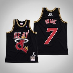 Goran Dragic & 7 Black DJ Khaled x Miami Heat Swingman Mitchell Ness Limited Jersey