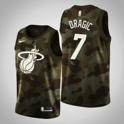 Männer Miami Heat Goran Dragic & 7 Camo 2019 Memorial Day Jersey