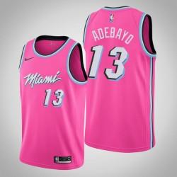 Männer NBA 2018-19 Bam Adebayo Miami Heat & 13 verdient Ausgabe Rosa Swingman Jersey