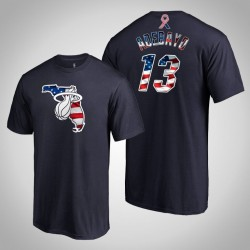Miami Heat Bam Adebayo # 13 2019 Memorial Day Banner Staat-Marine-T-Shirt