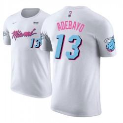 Männer Bam Adebayo Miami Heat # 13 Stadt Ausgabe Weiß Name # Nummer Spieler T-Shirt