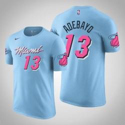 Miami Heat # 13 Bam Adebayo City Blue 2020 Saison Name # Nummer T-Shirt
