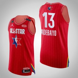 Wärme Bam Adebayo # 13 2020 NBA All-Star Game Authentic Red Trikot