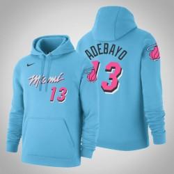 Miami Heat # 13 Bam Adebayo City Blue 2020 Jahreszeit PulloverHoodie