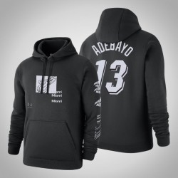 Heat # 13 Bam Adebayo Verzerrte Logo Pullover SchwarzesHoodie