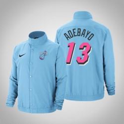 Männer Bam Adebayo Miami Heat # 13 Blue City DNA Vollschnapp Jacke