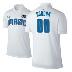 Männer Aaron Gordon Orlando Magic & 00 30th Anniversary Verband Weiß Spieler Performance Polo