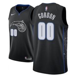 Männer NBA 2018-19 Aaron Gordon Orlando Magic & 00 Stadt Edition Black Jersey