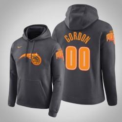 Orlando Magic & 00 Aaron Gordon Stadt Anthrazit 2020 Saison PulloverHoodie