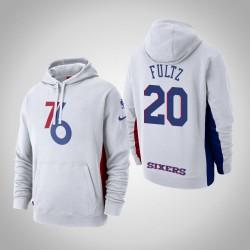 Männer Markelle Fultz Philadelphia 76ers & 20 White 2018 verdient Ausgabe Hoodie Courtside