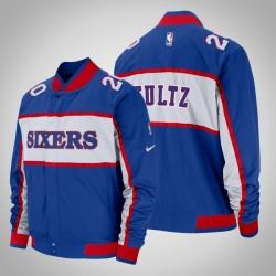 Männer Markelle Fultz Philadelphia 76ers & 20 Blue Icon Feldrand Jacke