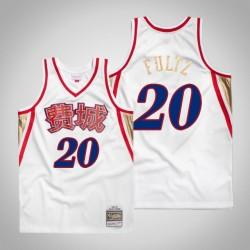 Herren Mitchell & Ness Markelle Fultz 76ers & 20 Chinese New Year Weiß Swingman Jersey