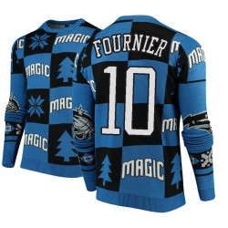 Männer Evan Fournier Orlando Magic & 10 Blue 2018 Weihnachten Sweater