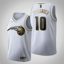 Orlando Magic Evan Fournier & 10 Golden Edition Weiß Jersey