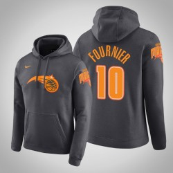 Orlando Magic & 10 Evan Fournier Stadt Anthrazit 2020 Saison PulloverHoodie