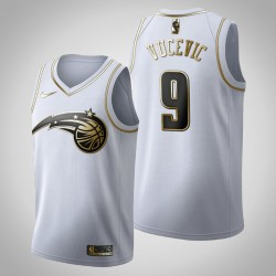 Orlando Magic Nikola Vucevic & 9 Golden Edition Weiß Jersey