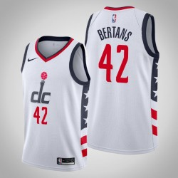 2019-20 Wizards Davis Bertans & 42 White City Jersey