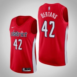 Männer Washington Wizards Davis Bertans & 42 Red verdient Jersey