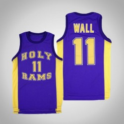 Wizards John Wall Wort Gottes Schule Heilige Rams & 11 Lila Basketball Performance-Jersey