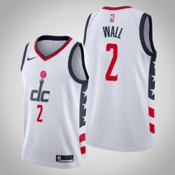 2019-20 Wizards John Wall, 2 White City Jersey