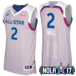NBA 2017 New Orleans All-Star Eastern Conference Wizards & 2 John Wall Grau Jersey