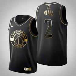 Washington Wizards John Wall & 2 Black Jersey - Golden Edition