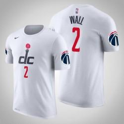 Washington Wizards & 2 John Wall Stadt Weiß 2020 Saison Name & Nummer T-Shirt