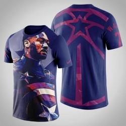 Washington Wizards John Wall, 2 Comic Captain America Marvel T-Shirt - Purple