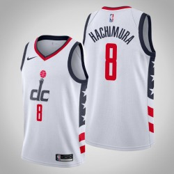 2019-20 Wizards Rui Hachimura & 8 White City Jersey