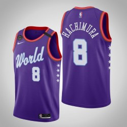 Washington Wizards Rui Hachimura & 8 2020 NBA Rising Star World Team Lila Jersey