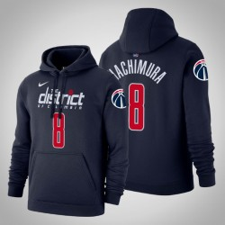 Washington Wizards & 8 Rui Hachimura Icon Navy 2020 Saison PulloverHoodie