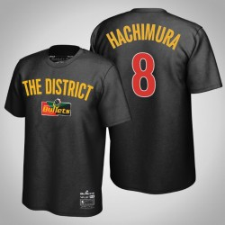 Rui Hachimura & 8 Black Wale X Washington Wizards HWC Begrenzte T-Shirt