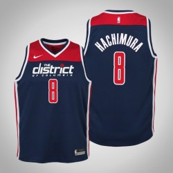 Jugend Rui Hachimura Washington Wizards & 8 Statement Navy 2020 Saison Jersey
