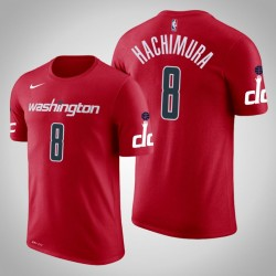 Männer Rui Hachimura Washington Wizards & 8 Icon Red Name & Nummer T-Shirt