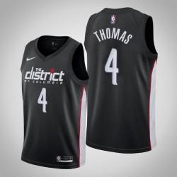 Männer Washington Wizards Isaiah Thomas & 4 Black City Jersey