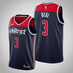 2019-20 Wizards Bradley Beal & 3 Navy Statement Ausgabe Jersey