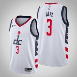 2019-20 Wizards Bradley Beal & 3 White City Jersey