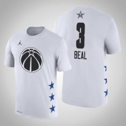 2019 NBA All-Star Game Männer Washington Wizards Bradley Beal & 3 Weißes T-Shirt
