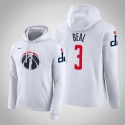 Washington Wizards & 3 Bradley Beal Stadt Weiß 2020 Jahreszeit PulloverHoodie